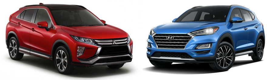 Hyundai Tucson 2019 vs. Mitsubishi Eclipse Cross, el duelo de crossover