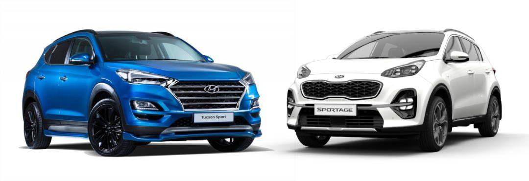 Hyundai Tucson 2019 vs Kia Sportage 2019