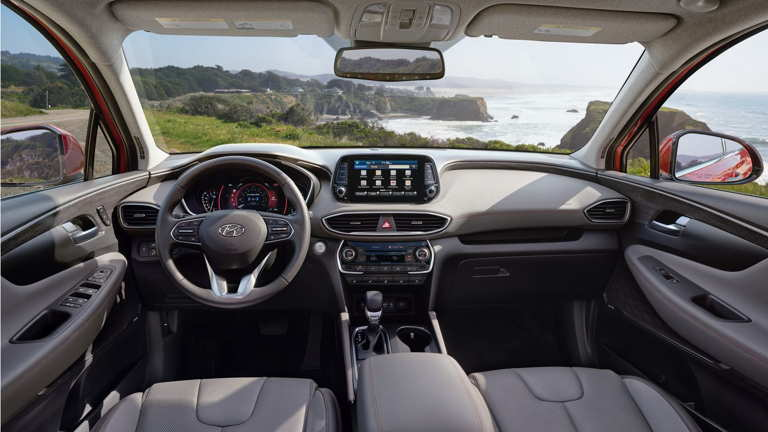Hyundai Santa Fe 2020 diseño interior