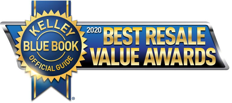 Kelly Blue Book 2020 best resale value awards