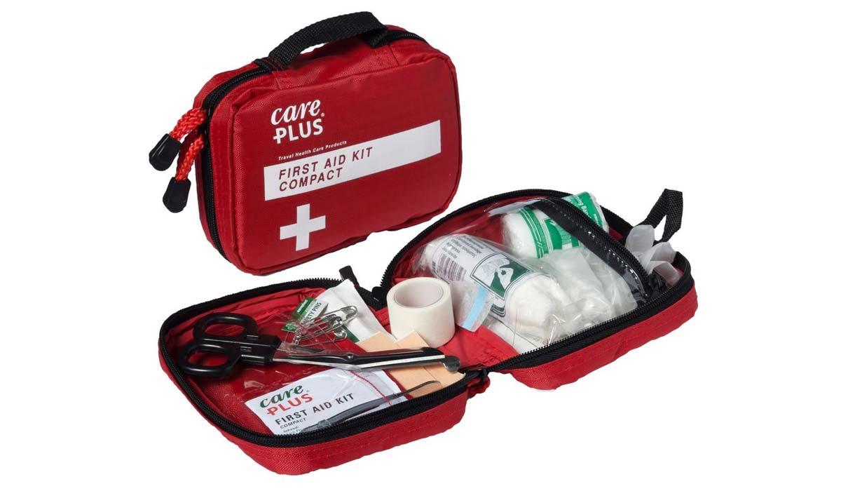 Accesorios, Botiquin para auto, Rojo, Cruz Roja, Medicamentos, Tijera, Curitas, Vendas