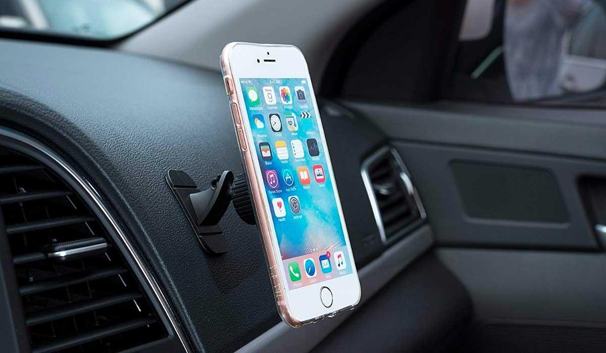 Accesorio, Telefono, iphone, apple, soporte, tablero de carro, auto
