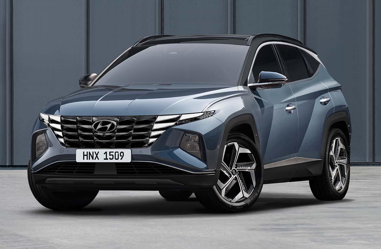 Hyundai Tucson, 2021, gris, azul, azul oscuro