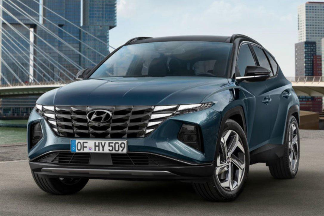 Hyundai, Marca, 2021, SUV, Azul oscuro, en la ciudad