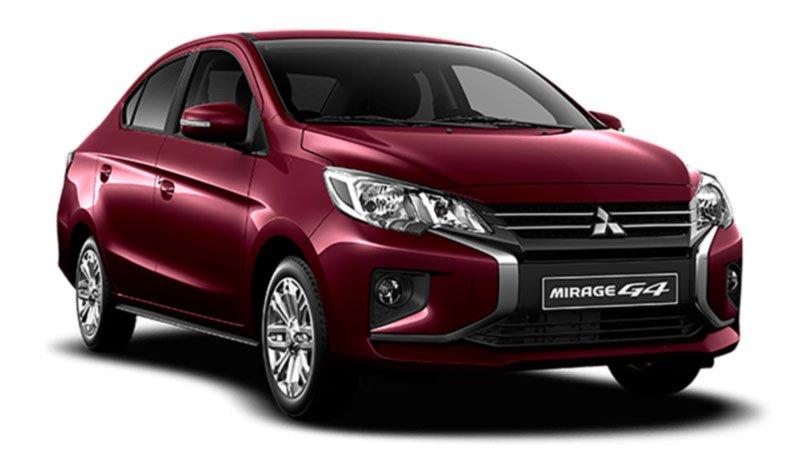 Mitsubishi, Mirage, Año 2021, rojo vino, Stock, Fondo Blanco, Rojo, Red