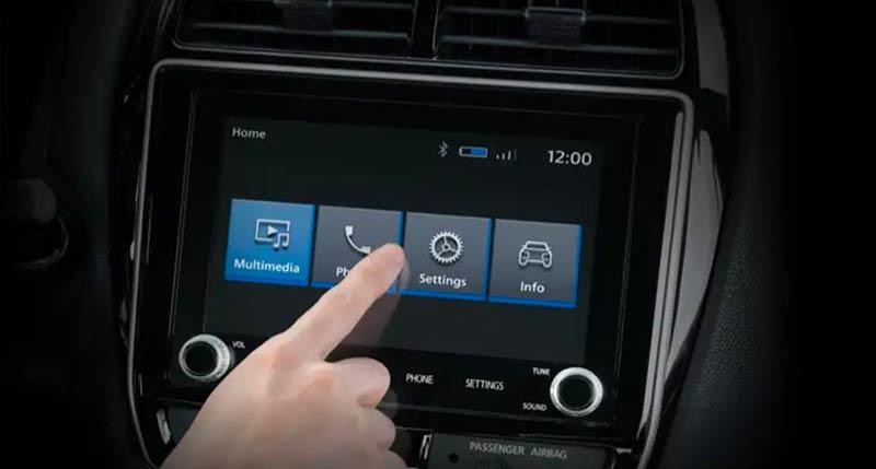 Mitsubishi Mirage 2019 smart touchscreen